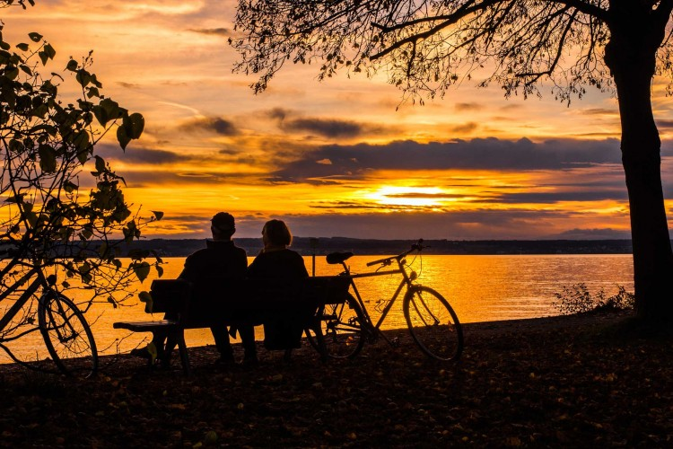 pictures of couples watching sunset