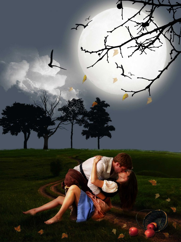 loving couple kissing images