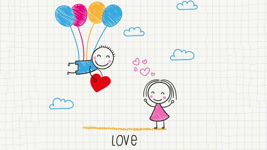 Cute love drawings pencil art | HD romantic sketch wallpaper