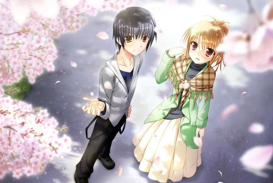 cute Love couple Hd Wallpaper Animated : Romantic couples Anime WallpapersRomantic Wallpaperschobirdokan