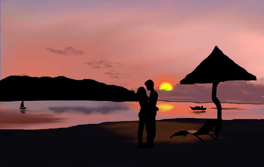 Love Couple Wallpaper   Beach Pictures Ideas Of Couple