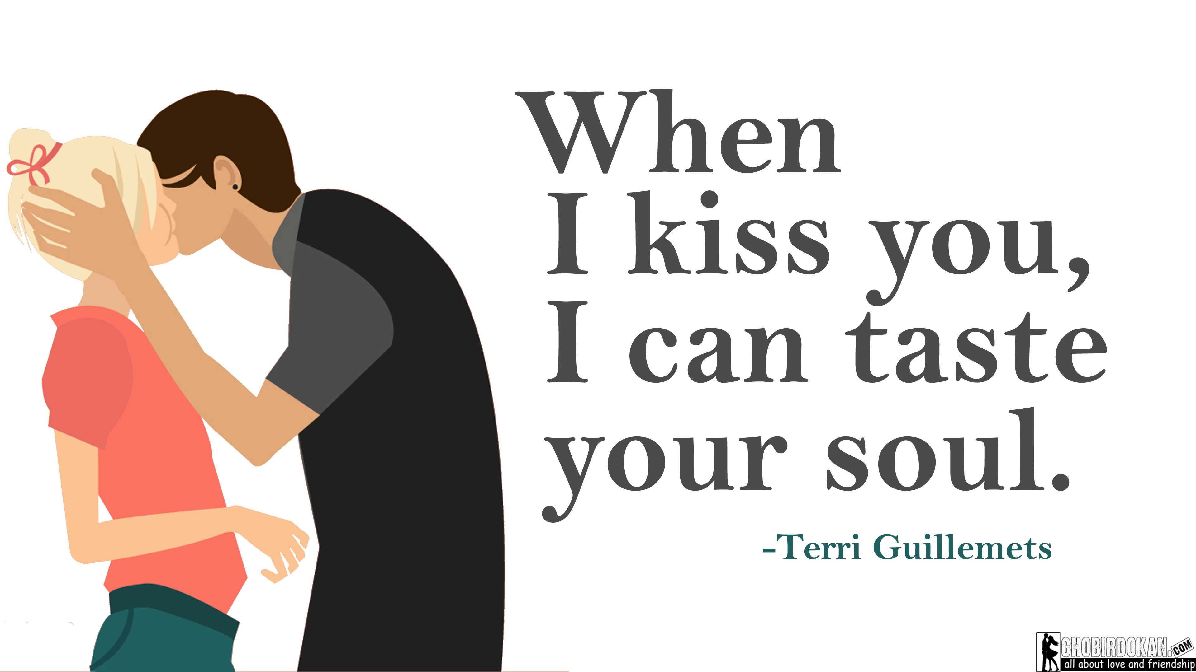 Cute Kissing Quotes Images For Her/Him -Best Love Kiss Quotes