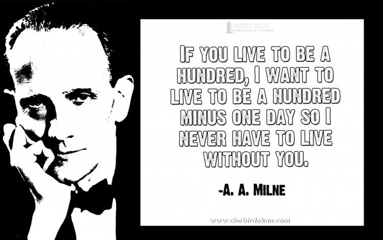 aa milne quotes about love