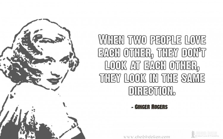 ginger rogers love quotes