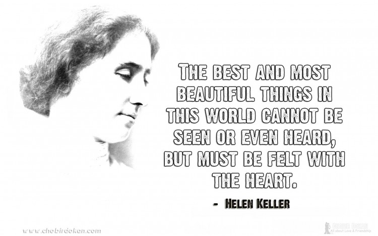 helen keller quotes on love