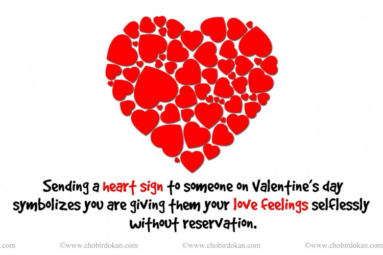 meaning of the heart sign in valentine day