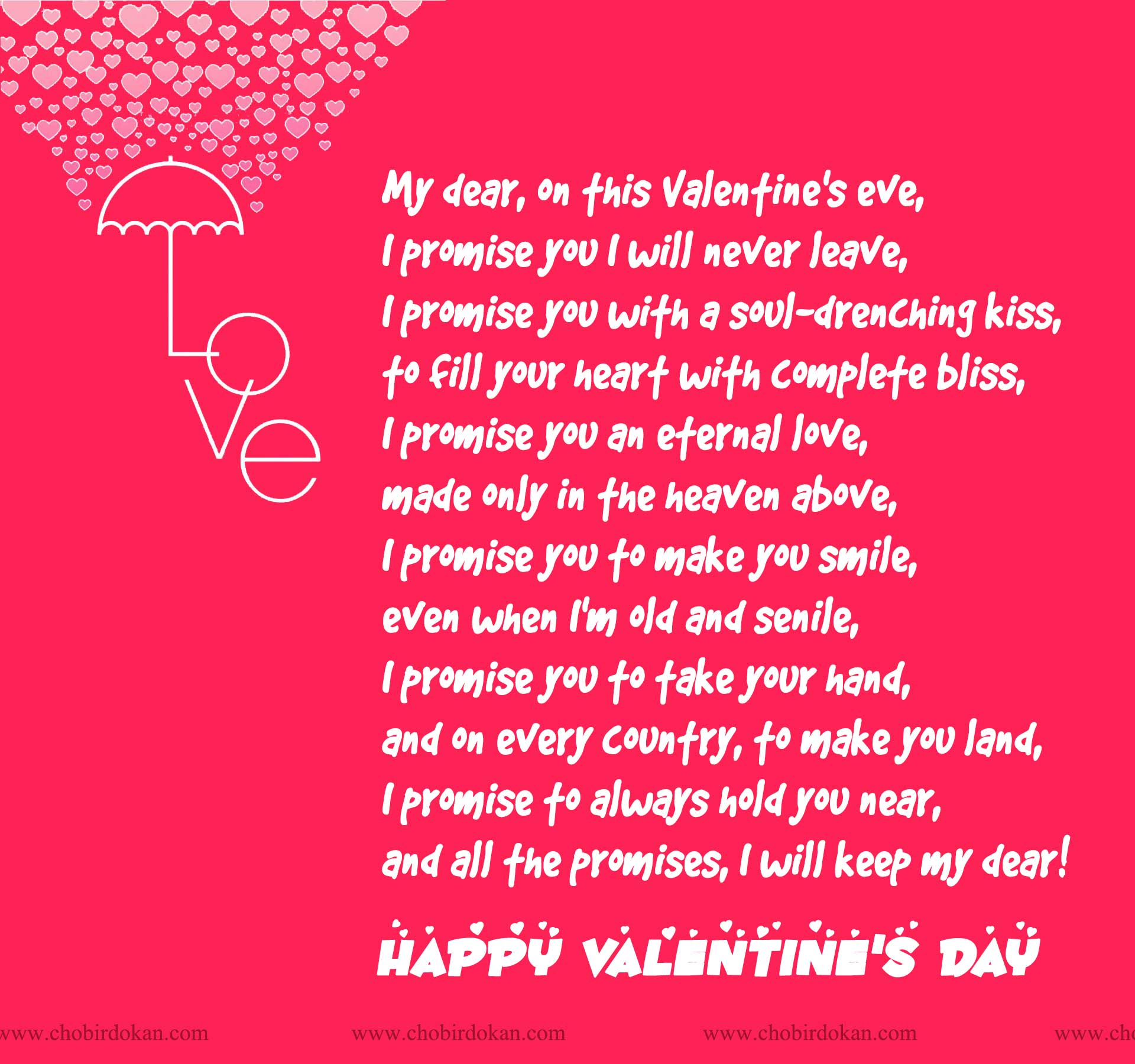 Happy Valentines Day Poems For Her For Your Girlfriend Or Wife