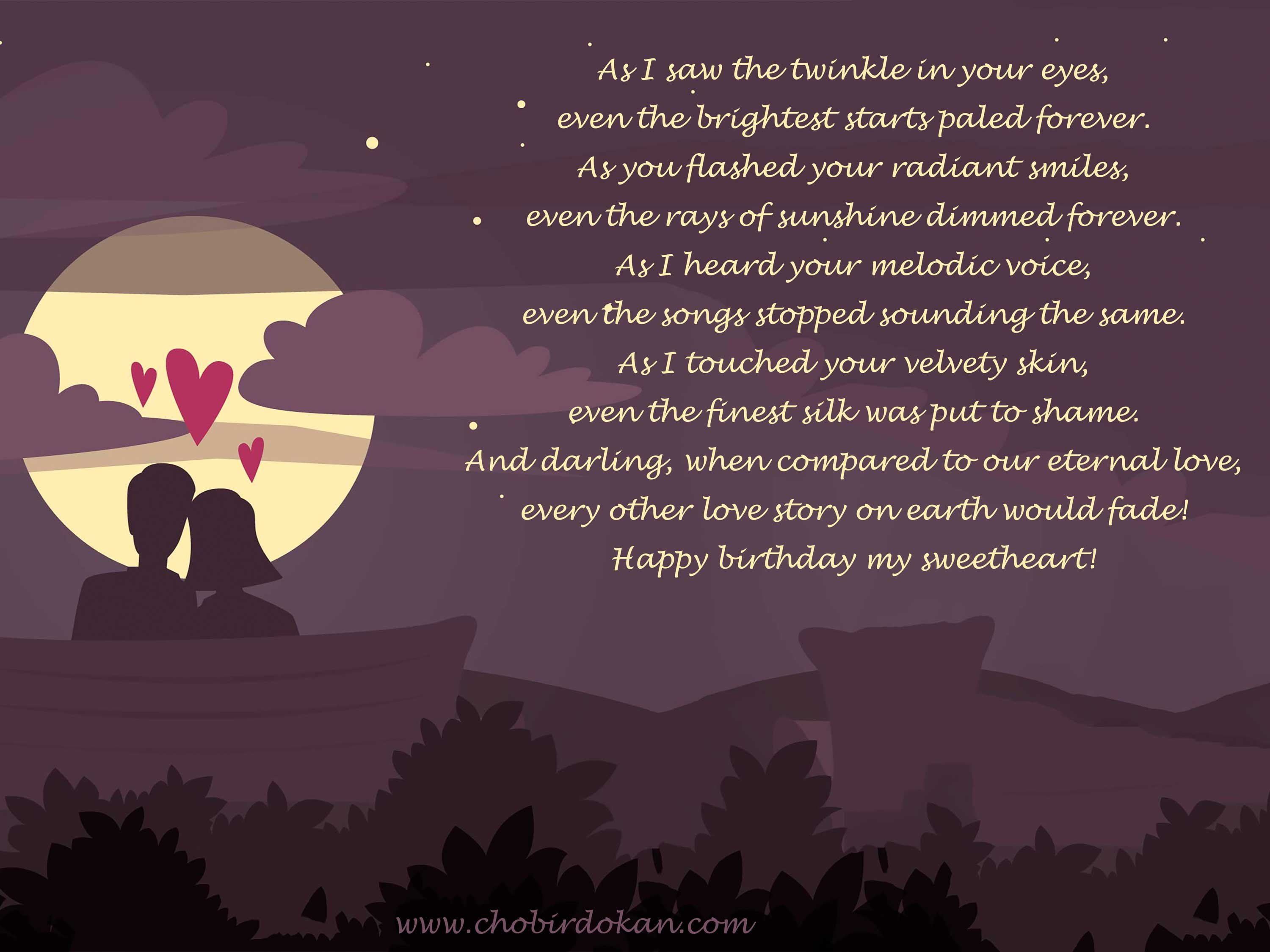Romantic Happy Birthday Poems For Her -For Girlfriend or ...