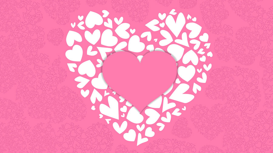 pink heart wallpaper free download