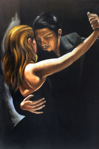 most romantic paintings-Bennett - Tango II by overstockArt