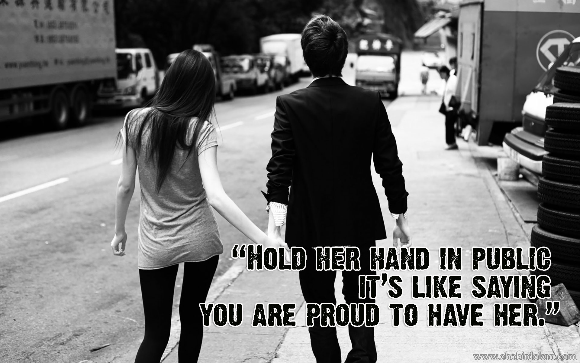 Cute lover holding hand quotes wallpaper