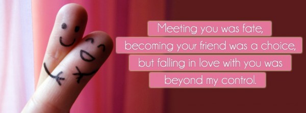 Falling in Love Facebook Cover