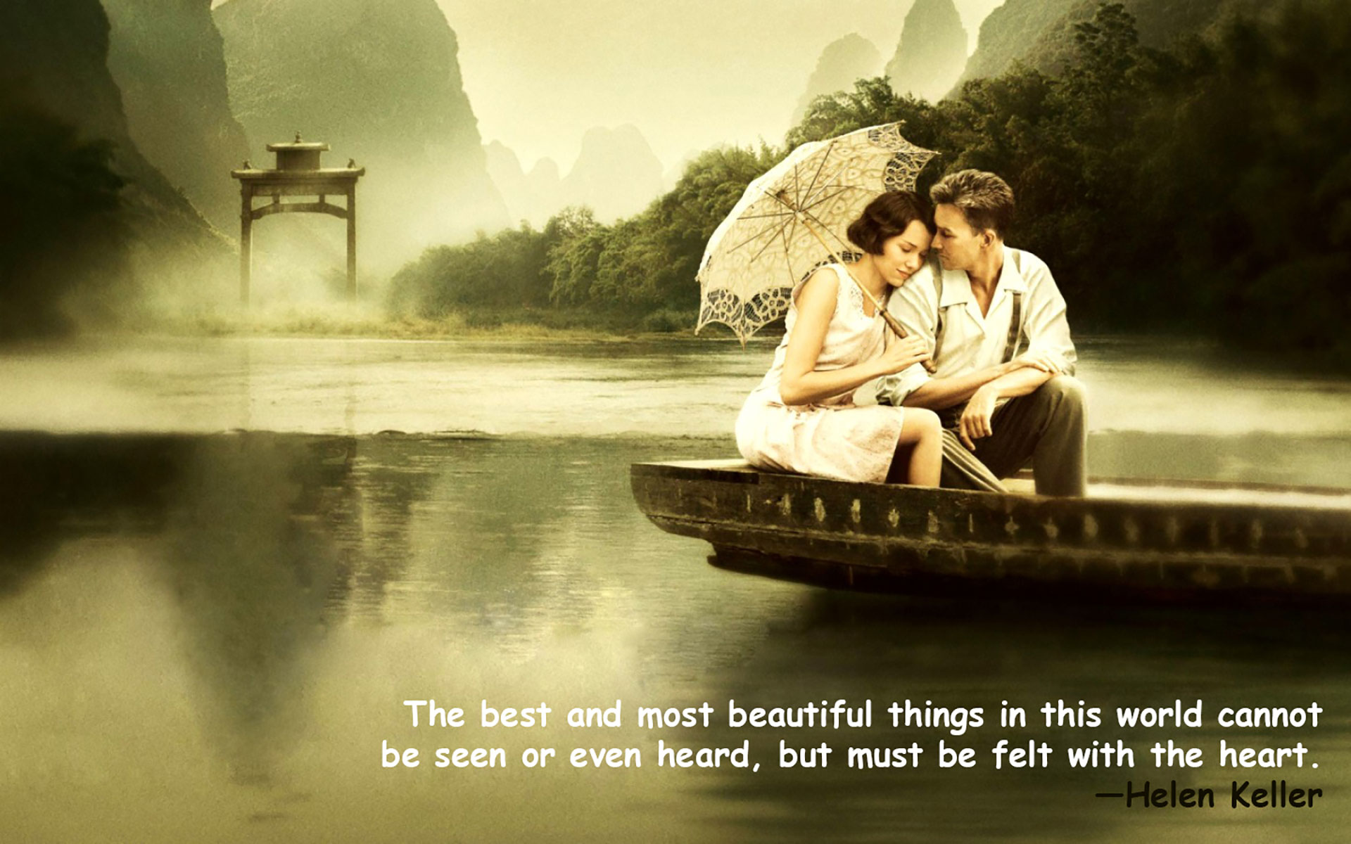 Love Quotes Wallpaper Romantic Couple with Quotes