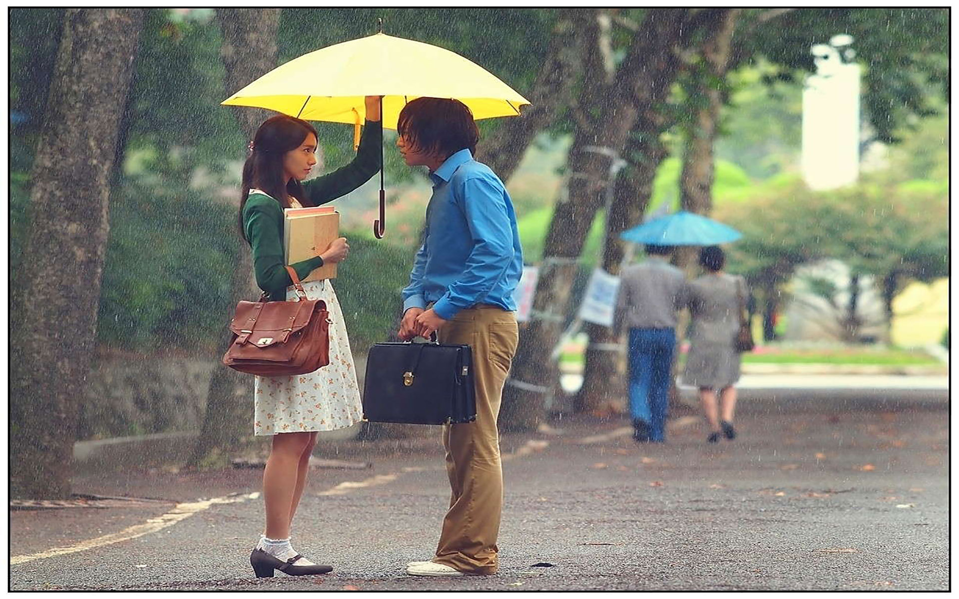 First impression of love in a rainy day