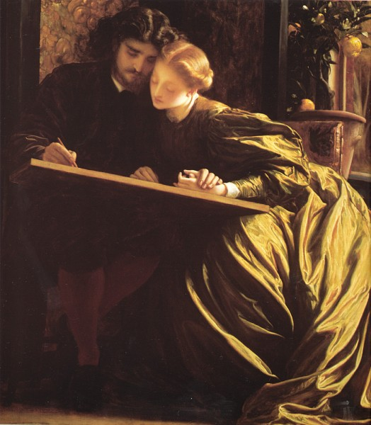 Honeymoon Couple Painting-The Painter's Honeymoon by Frederic Leighton