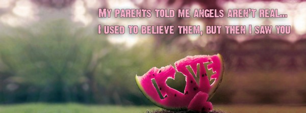 Love written on water melon facebook cover