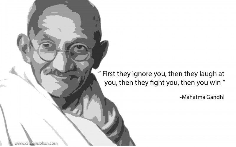Mahatma Gandhi Short Quotes about Love