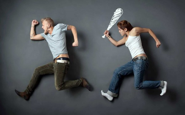 funny wallpaper of romantic couple of Attempt to Murder