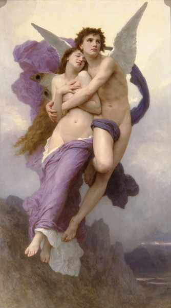 Romantic oil Paintings of The Abduction of Psyche