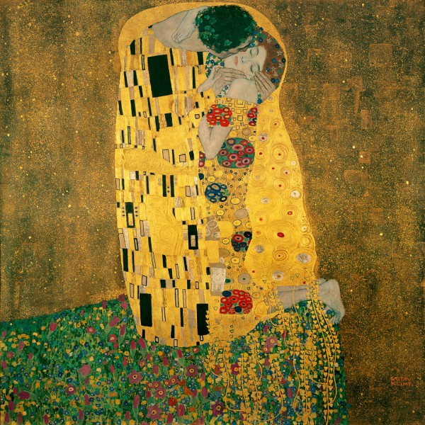 Oil Painting of Love Couple Kiss-The Kiss by Gustav Klimt