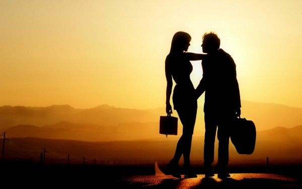 love couple shadow wallpaper hd