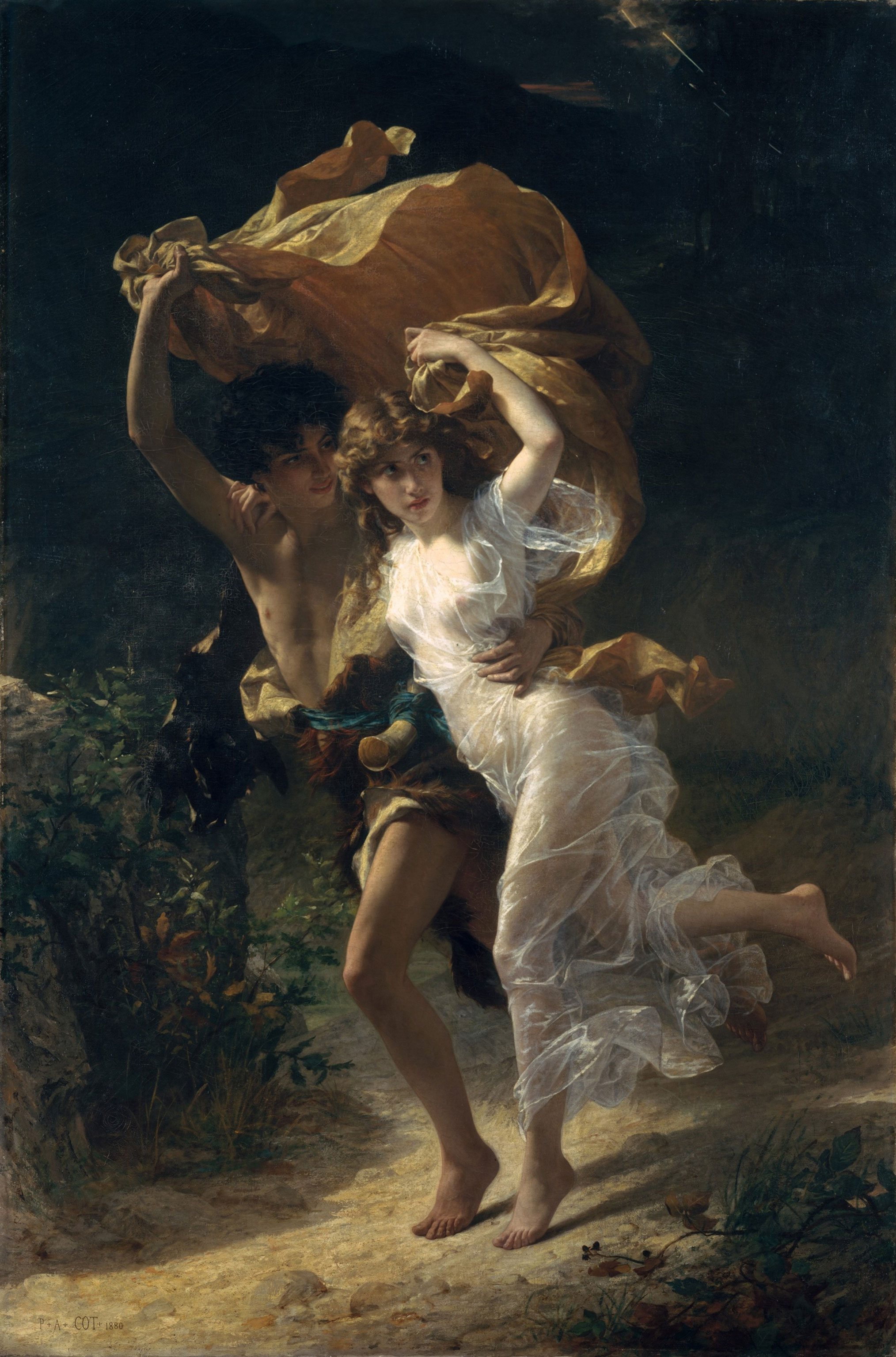 Romantic Paintings The Storm By Pierre Auguste Cot