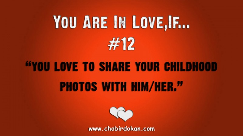 be sure about you are in love
