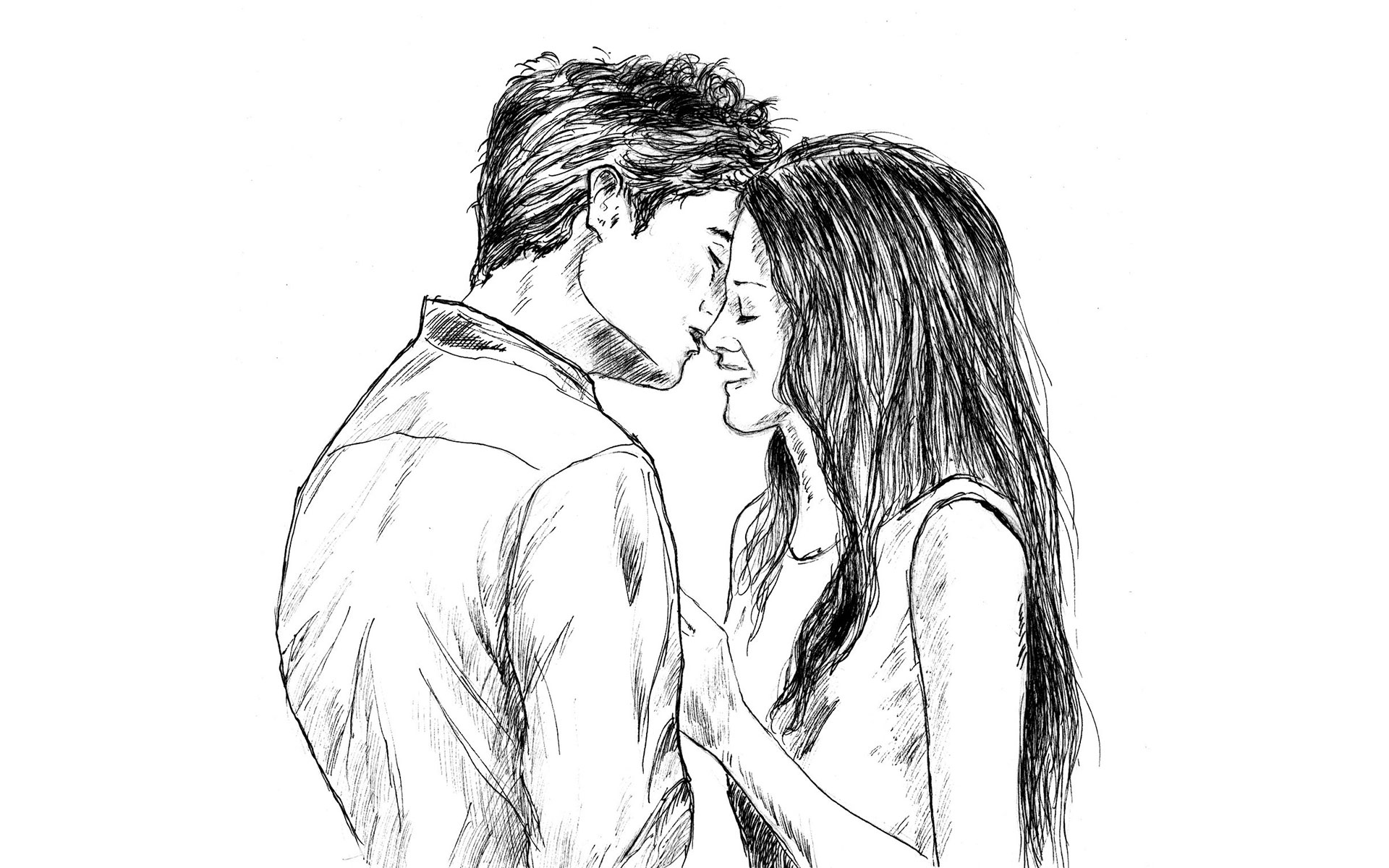 Best Kiss Love Drawing