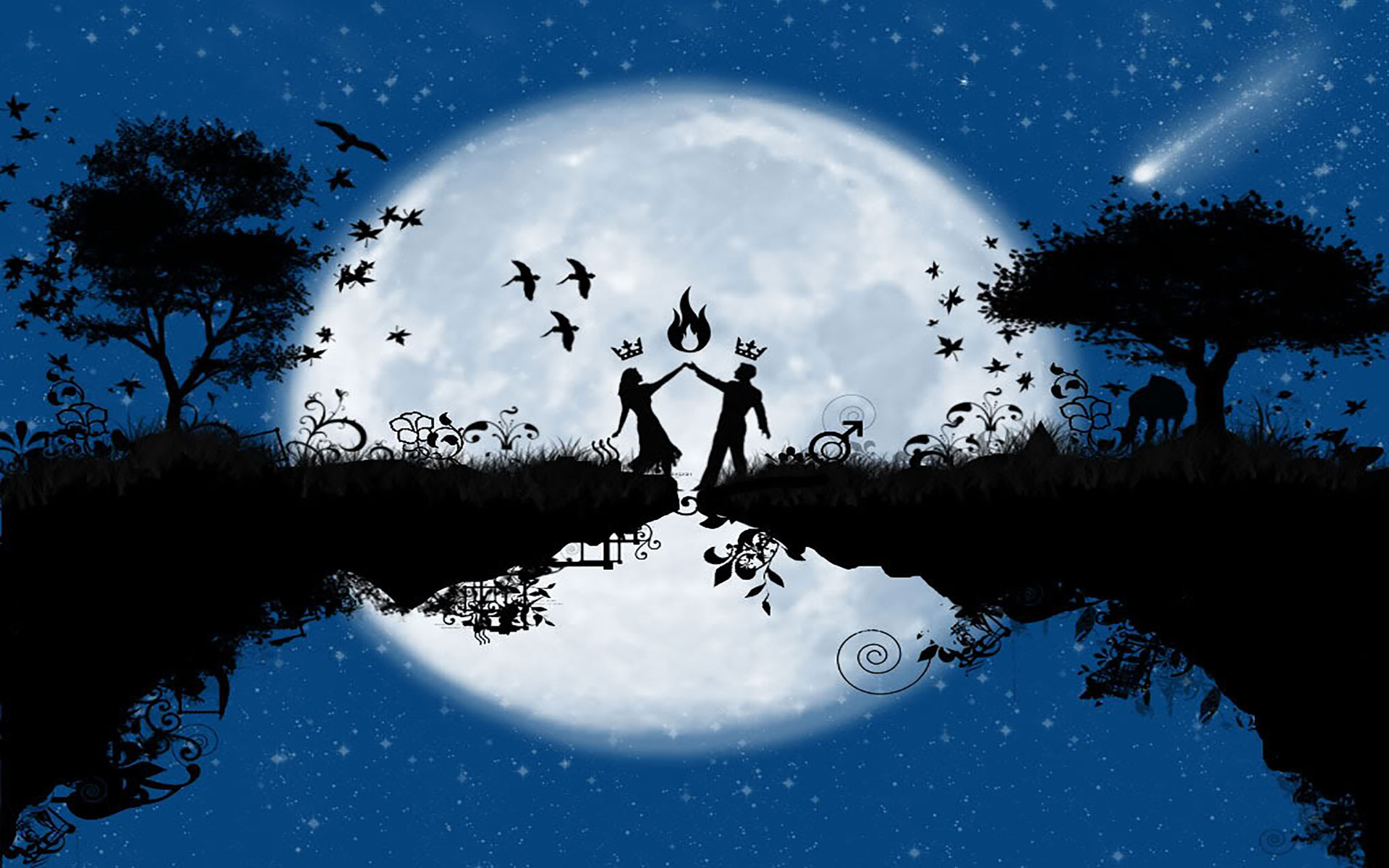 Wallpaper 1440x1280 Px Abstract Love Nature: Silhouette Of Couple Holding Hands -Dancing Couple Silhouette