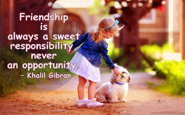 friendship image with quote