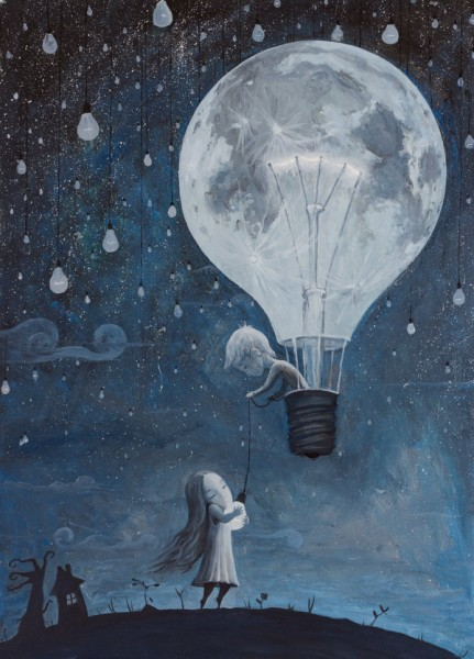 emotionally touching painting-He Gave Me The Brightest Star by borda