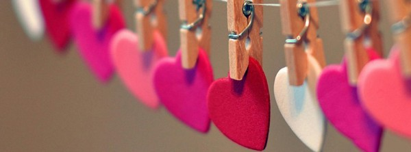 hearts in row love facebook cover