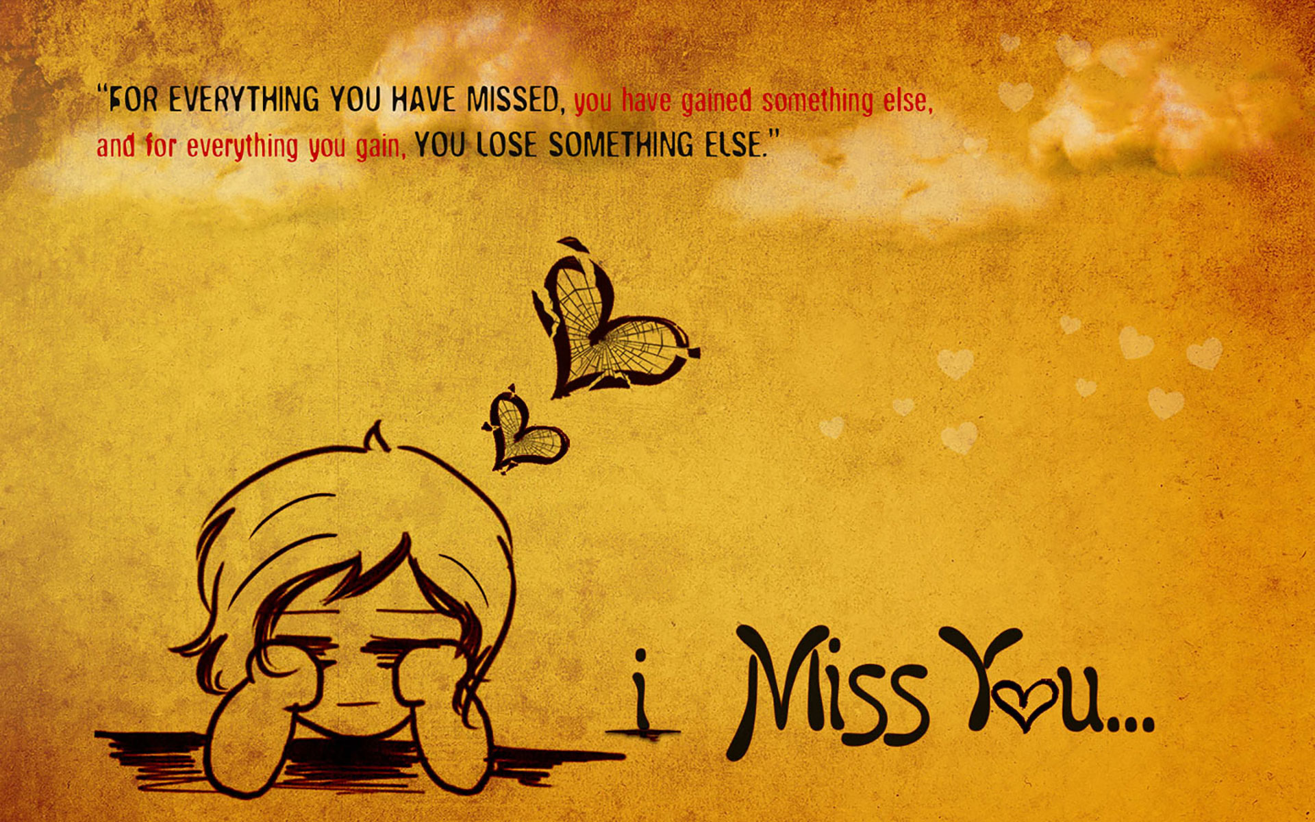 HD I Miss You Wallpaper For Him Or Her
