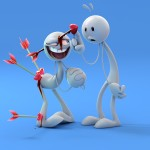 3d Wallpapers of Funny robots in love| Funny Love Pictures
