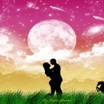 Silhouette Vector Wallpapers of Cute Couple in Love