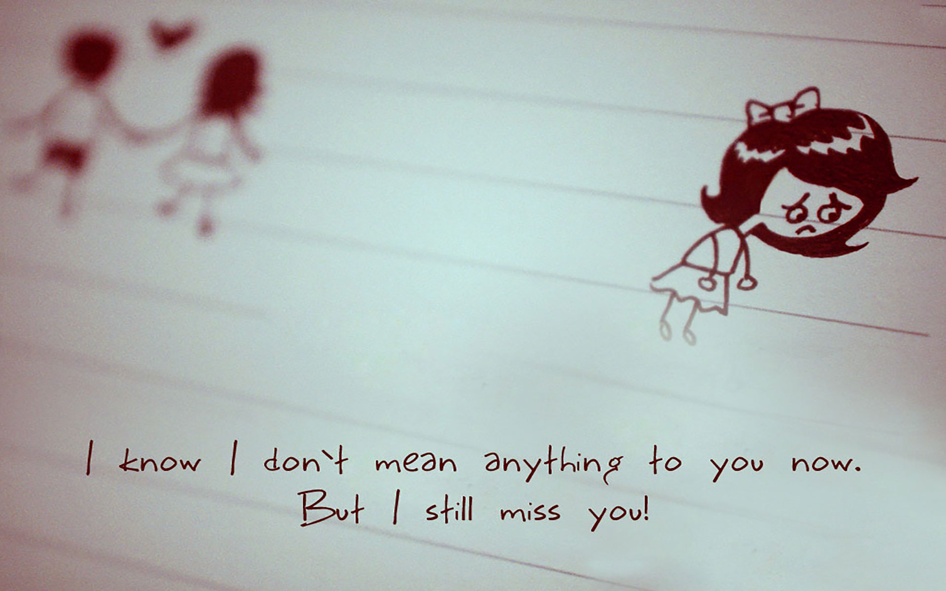 hd i miss you wallpaper for him or her|romantic wallpapers|chobirdokan