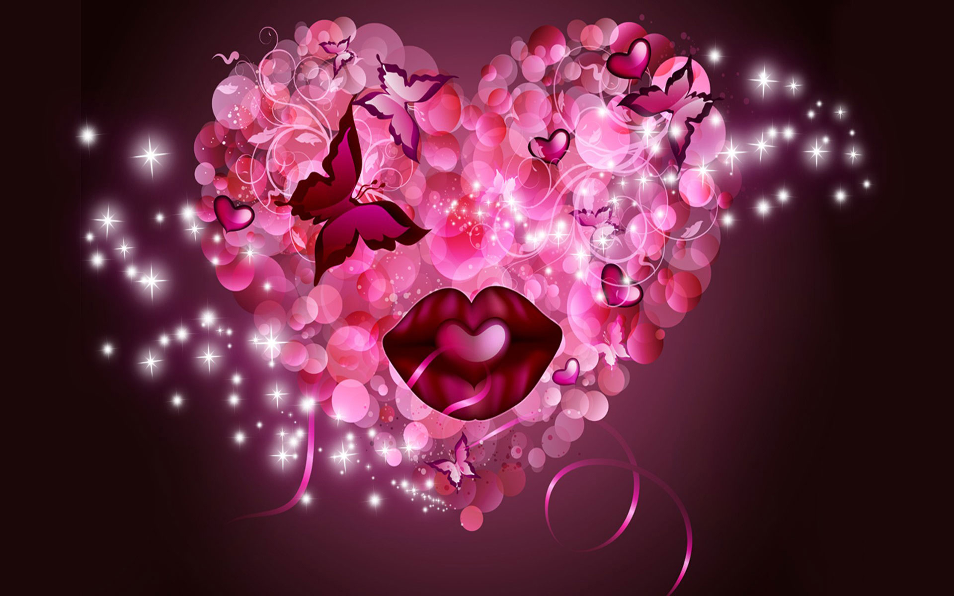 Cute love heart wallpaper hd free pink heart wallpapers pink heart hd wide wallpaper voltagebd Images