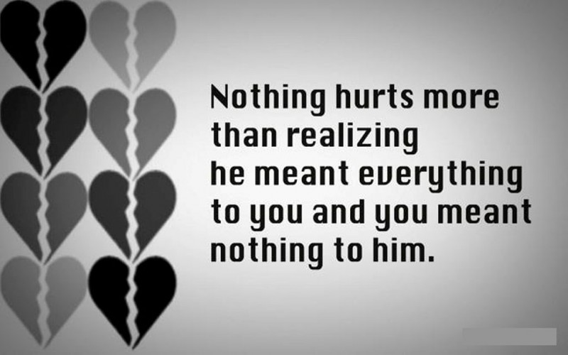 Short Sad Love Quotes For Him with Image in English
