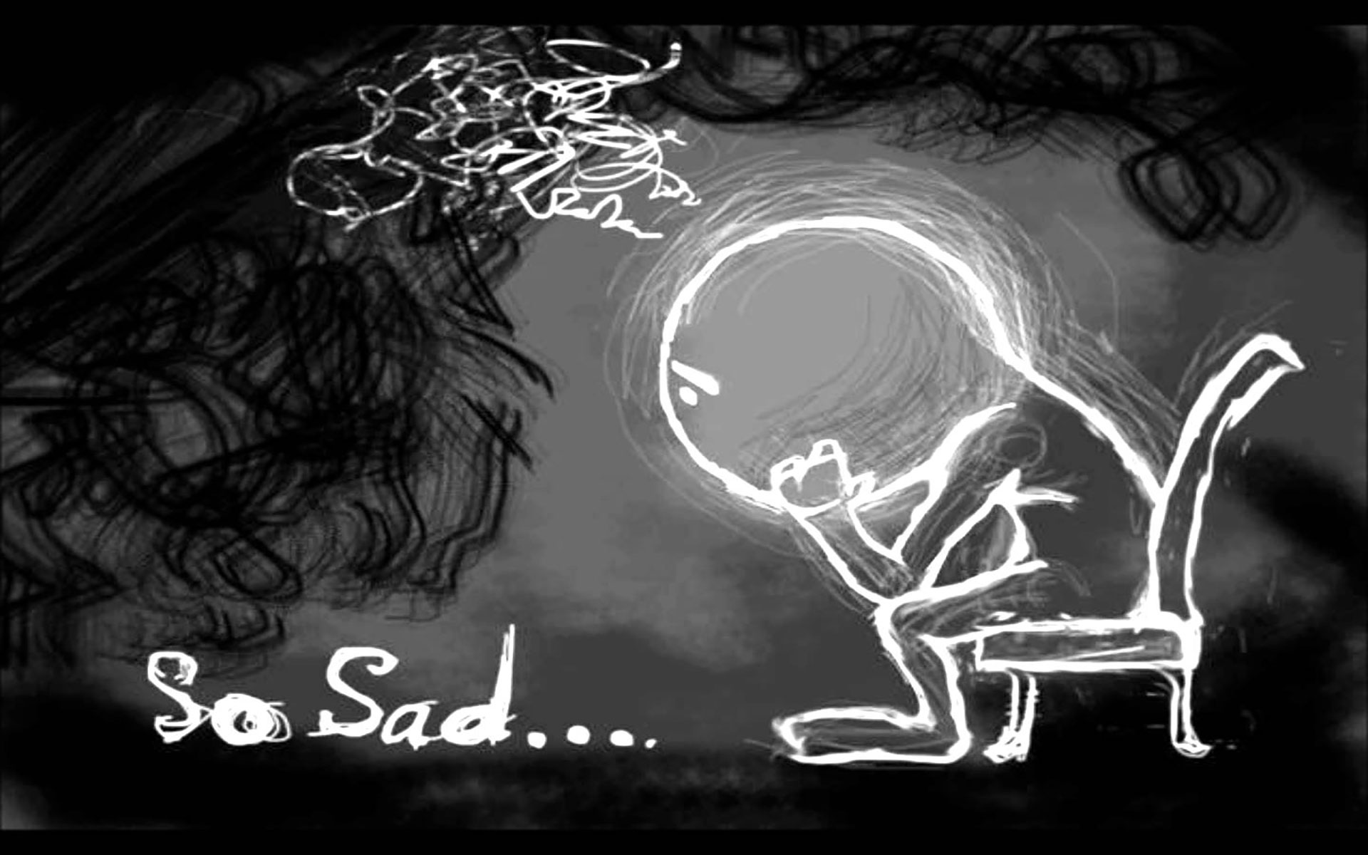 Sad Love Wallpaper In cartoon : Free Download Sad Wallpapers HD Depression Wallpaper